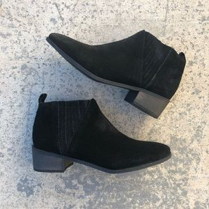 Coconuts by Matisse Black Suede Flat Ankle Boots